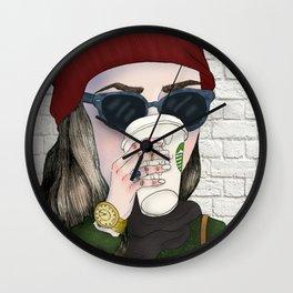 Hello My Name Is: Broke Bitch Wall Clock