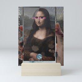 Mona Lisa phone Mini Art Print