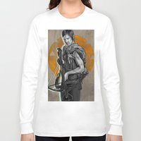 daryl dixon Long Sleeve T-shirts featuring Daryl Dixon by Yan Ramirez