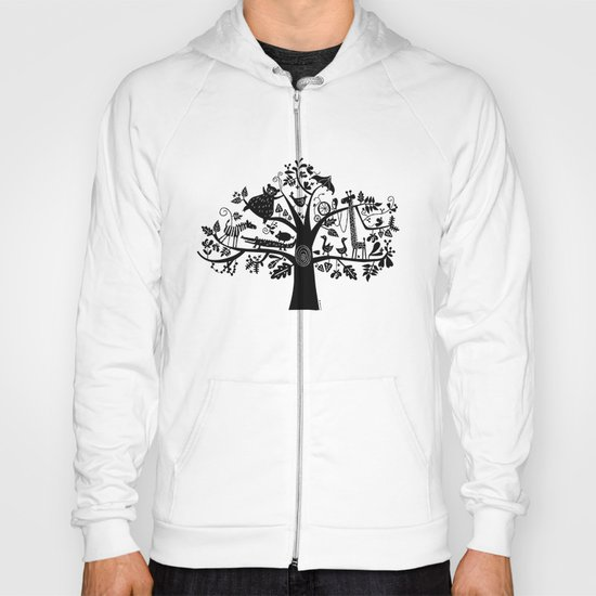 :) animals on tree Hoody