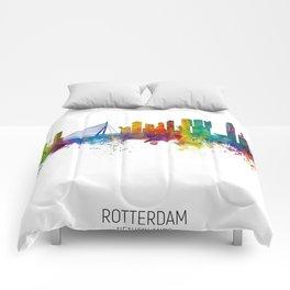 Rotterdam The Netherlands Skyline Comforters