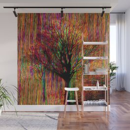 Abstract tree on a colorful background Wall Mural