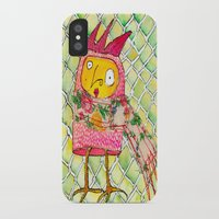 chicken iPhone & iPod Cases featuring Chicken by Dawn Patel Art