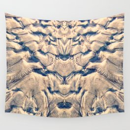 Golden Tidal Sands Wall Tapestry