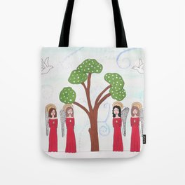 Angels Praying 2 Tote Bag