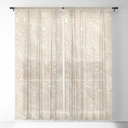 Butterscotch Silk Moire Pattern Sheer Curtain
