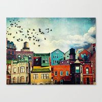 birds Canvas Prints featuring A Grand Avenue by Tim Jarosz