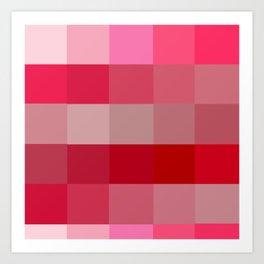 Pixels: Candy Apple Reds Art Print