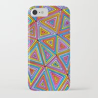 triangle iPhone & iPod Cases featuring Triangle by Neon Wonderland