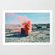 PINK SMOKE - SUIT CASE Art Print