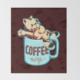 Coffee is Life Throw Blanket