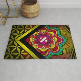 Sacred Geometry for your daily life - ALEPH KYBALION EYE Rug