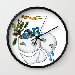 Monty Python, Comedy and Tragedy Wall Clock