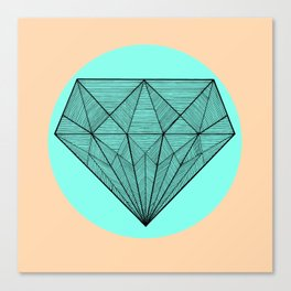 Crystaline in circle Canvas Print