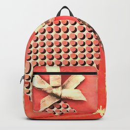 Coral Colored Hanging Christmas Ornaments Backpack