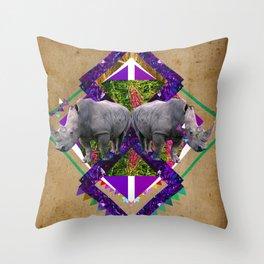 Rhinoceroses  Throw Pillow
