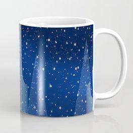 Snowy Night Christmas Tree Holiday Design Coffee Mug
