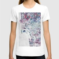 san diego T-shirts featuring San Diego map by MapMapMaps.Watercolors