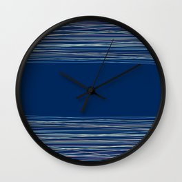 Blue thread , abstract Wall Clock