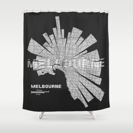Melbourne Map Shower Curtain