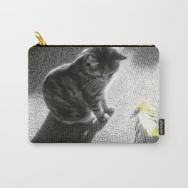Little cat and Feather Carry-All Pouch