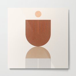 Abstraction_SHAPE_BALANCE_LINE_BOHEMIAN_POP_ART_099P Metal Print