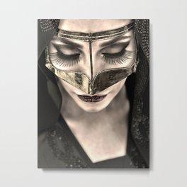 Neqab Portrait Metal Print