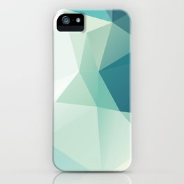 Lagoon – modern polygram illustration iPhone Case
