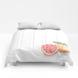 Watercolour Grapefruit Comforters