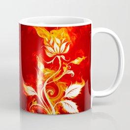 Cool Orange and Yellow Fire Flower Fire Rose Coffee Mug