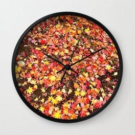Fall...ing in love with fall Wall Clock