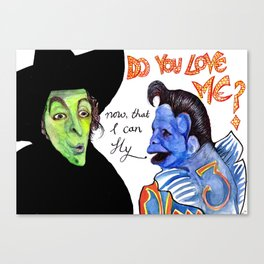Ding Dong the Witch is dead. Canvas Print