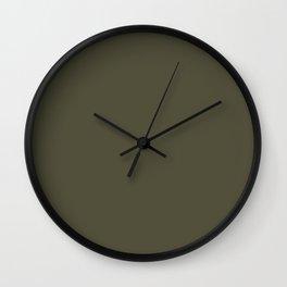 Cedar Creek Grist Mill ~ Olive Green Wall Clock