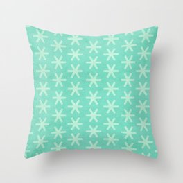 Asterisk Small - Turquoise Throw Pillow