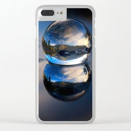 Reflections of Reflections Castle Lake in a crytsal ball photograph Clear iPhone Case