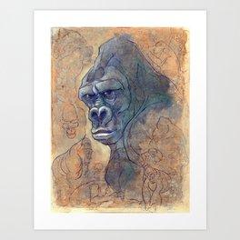 Endangered Series Gorilla Art Print
