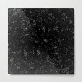 Crushed Carbonfibre Metal Print