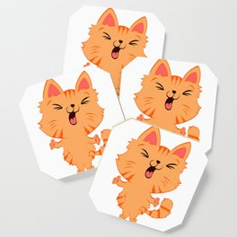 Perfect Gift for Cat Lovers A Persian Cat Tee T-shirt Design Kitty Kitten Meow Paws Animals Fur Cute Coaster