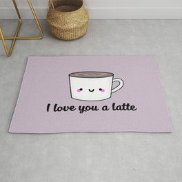 I Love You A Latte Rug