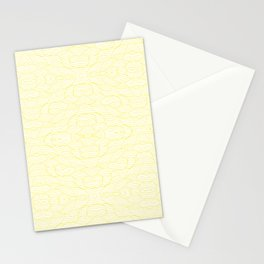 Wavy Lines - Tiled & Mirrored - Light Yellow Stationery Cards
