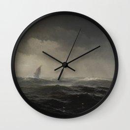 The Sea by Edward Moran, 1870 Wall Clock