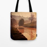 copper Tote Bags featuring Copper Dawn by Mark Bagshaw Photography