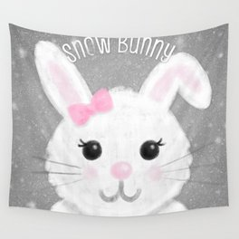 Snow Bunny Wall Tapestry