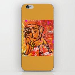French bulldog pop art iPhone Skin