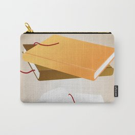 Books with background Carry-All Pouch