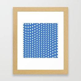 American Blue and White Stars Framed Art Print