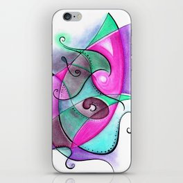 Turquoise and Purple Anxious iPhone Skin