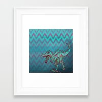 dino Framed Art Prints featuring dino  by Bunny Noir