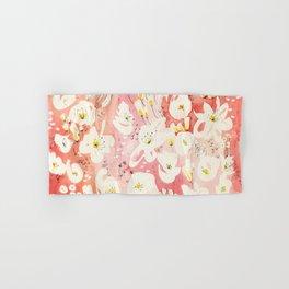 Spring Field in Crimson Peach Hand & Bath Towel