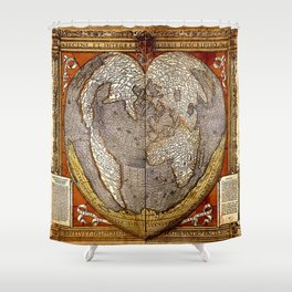 Heart of the World Shower Curtain